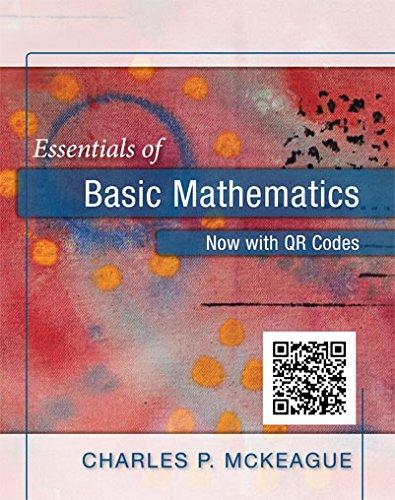 9781630980368: Essentials of Basic Mathematics (Now with QR codes)
