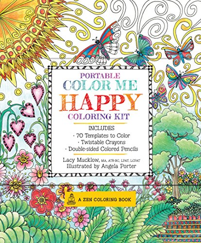 9781631061899: Portable Color Me Happy Coloring Kit: Includes Book, Colored Pencils and Twistable Crayons (A Zen Coloring Book)