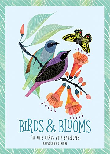 9781631062995 Birds Blooms Artwork By Geninne 10 Note Cards And Envelopes