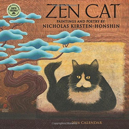 Zen Cat 2016 Mini Wall Calendar: Nicholas Kirsten-Honshin, Amber Lotus Publishing