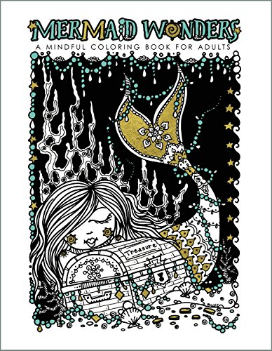 9781631406447: Mermaid Wonders: A Mindful Coloring Book for Adults