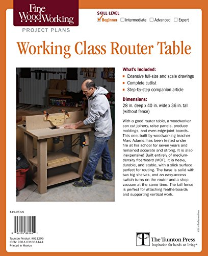 9781631861444: Fine Woodworking's Working-Class Router Table Plan