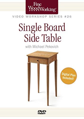 9781631861666: Fine Woodworking Video Workshop Series - Single Board Side Table