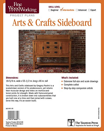 Fine Woodworking's Arts & Crafts Sideboard Plan: Paolini, Gregory