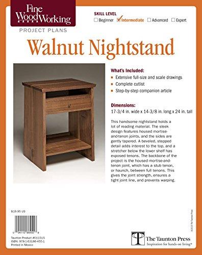 9781631864551: Fine Woodworking's Walnut Nightstand Plan
