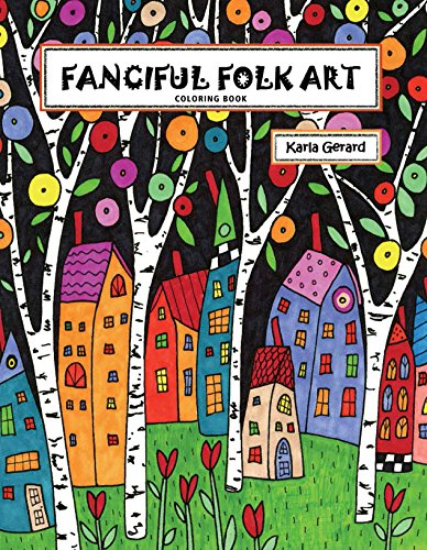 9781631866821: Fanciful Folk Art Coloring Book