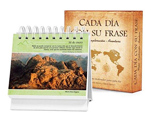 9781632640017: Cada día con su frase―VIAJES―EXPLORACIÓN―AVENTURA: Un diario Quotebook en práctico formato de escritorio (Spanish Edition)
