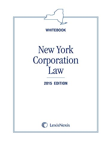9781632810403: New York Corporation Law (Whitebook), 2015