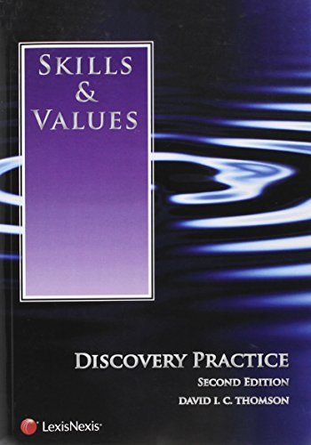 Skills and Values: Discovery Practice, by Thomson, 2nd Edition: Thomson