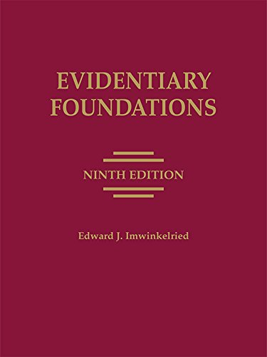 9781632814838: Evidentiary Foundations