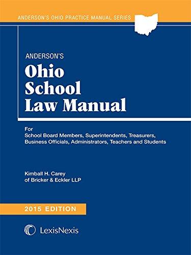 9781632816627: Anderson's Ohio School Law Manual (2015)