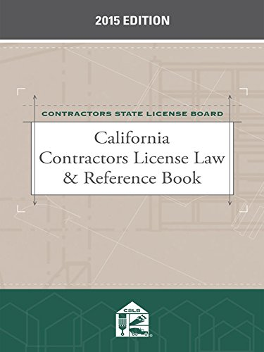 9781632819024: California Contractors License Law & Reference Book (2015)