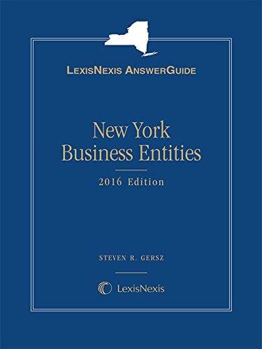 9781632842497: LexisNexis AnswerGuide New York Business Entities