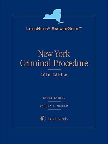 9781632845559: LexisNexis Answer Guide New York Criminal Procedure