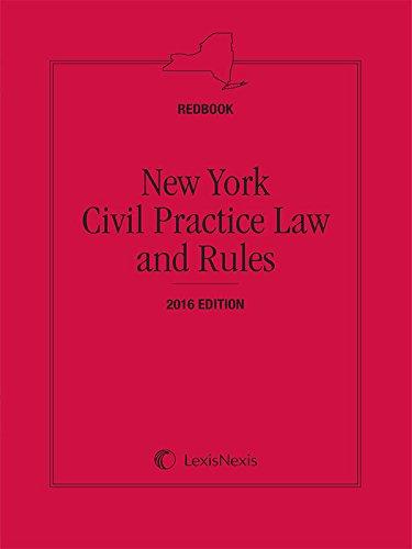 New York CPLR (Redbook), 2016 Edition