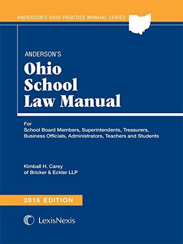 9781632848963: Anderson's Ohio School Law Manual