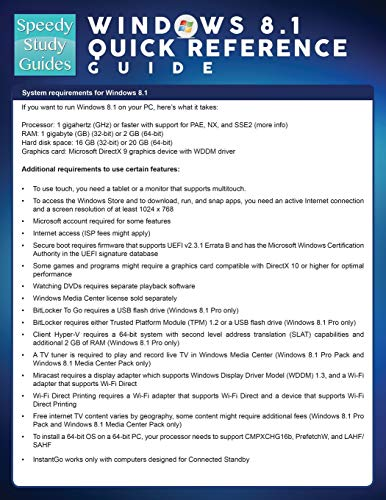 9781632871855: Windows 8.1 Quick Reference Guide (Speedy Study Guide)