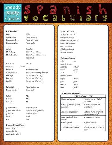9781632871893: Spanish Vocabulary (Speedy Study Guide)