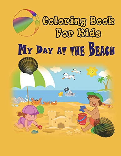 9781632874979: My Day at the Beach: Coloring Book for Kids