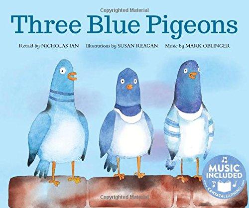 9781632908018: Three Blue Pigeons (Sing-along Math Songs)