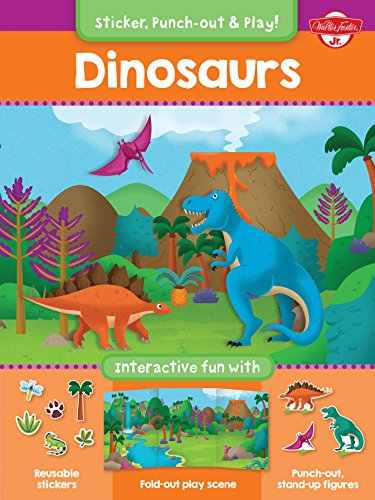 Dinosaurs: Interactive fun with reusable stickers, fold-out play scene, and punch-out, stand-up ...