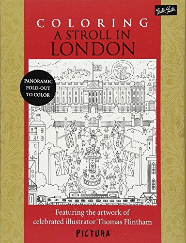 9781633220195: Coloring A Stroll In London: Featuring the artwork of celebrated illustrator Thomas Flintham (PicturaTM)