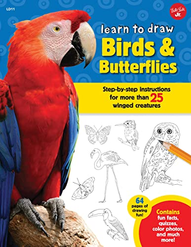 9781633220645: Learn to Draw Birds & Butterflies: Step-by-step instructions for more than 25 winged creatures