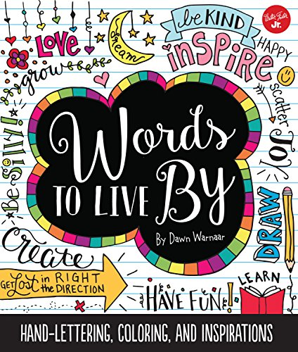 9781633221000: Words to Live By: Creative hand-lettering, coloring, and inspirations