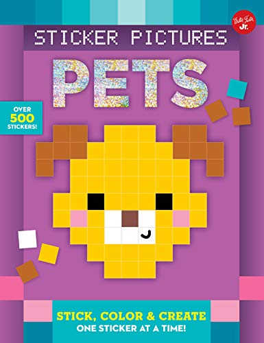 9781633222786: Sticker Pictures: Pets: Stick, color & create one sticker at a time! (Sticker & Color-by-Number)