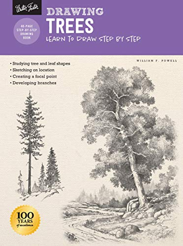 9781633227798: Drawing: Trees with William F. Powell: Learn to draw step by step (How to Draw & Paint)