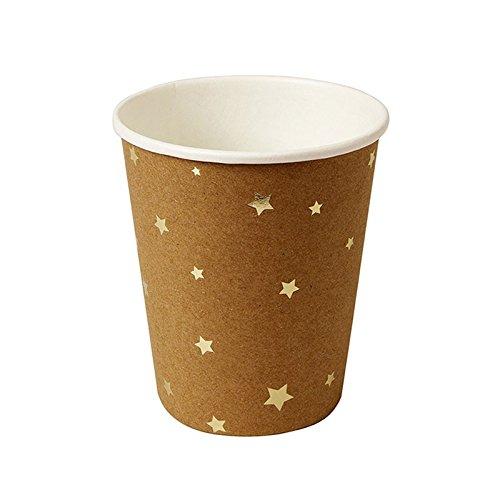 9781633256682: Gobelets kraft étoiles dorées