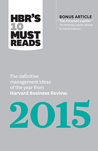 9781633690219: HBR's 10 Must Reads 2015: The Definitive Management Ideas of the Year from Harvard Business Review (with Bonus Article