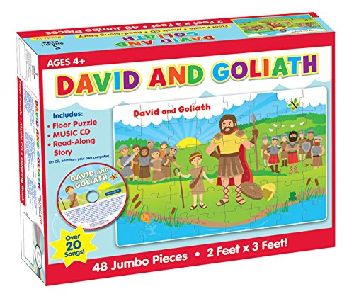 9781634093880: David and Goliath Floor Puzzle & CD (I'm Learning the Bible Floor Puzzle)
