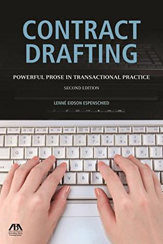 9781634250689: Contract Drafting: Powerful Prose in Transactional Practice