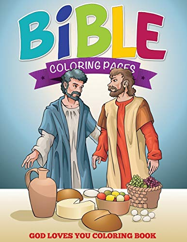 9781634285438: Bible Coloring Pages: God Loves You Coloring Book