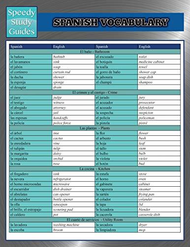 9781634286602: Spanish Vocabulary (Speedy Study Guides)