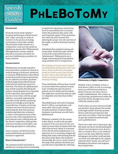 9781634289542: Phlebotomy (Speedy Study Guides)