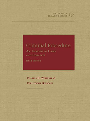 9781634590396: Criminal Procedure, An Analysis of Cases and Concepts (University Treatise Series)