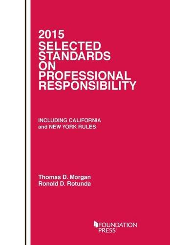 9781634592086: Selected Standards on Professional Responsibility (Selected Statutes)