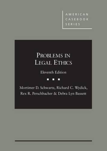 9781634592239: Problems in Legal Ethics (American Casebook Series)