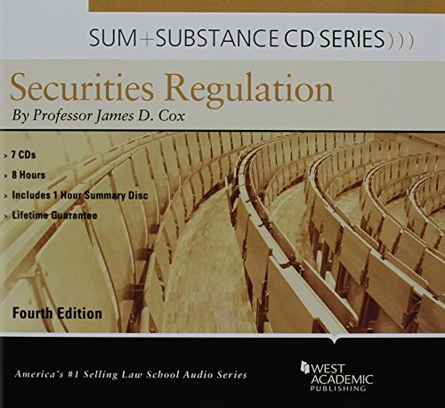 9781634592666: Sum and Substance Audio on Securities Regulation with Summary Supplement