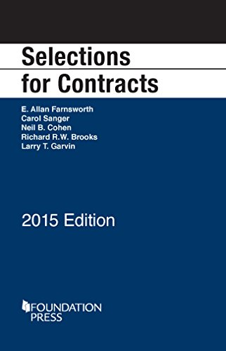 9781634594653: Selections for Contracts, 2015 (Selected Statutes)