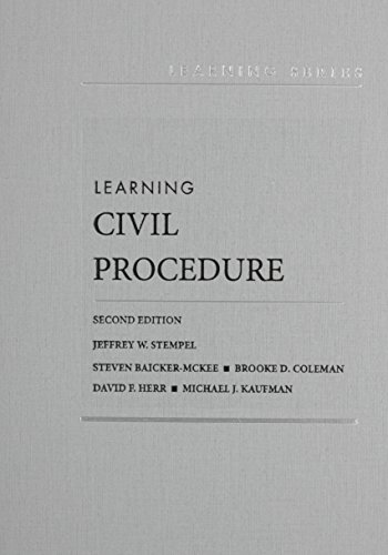 9781634595124: Learning Civil Procedure, 2d – CasebookPlus (Learning Series)