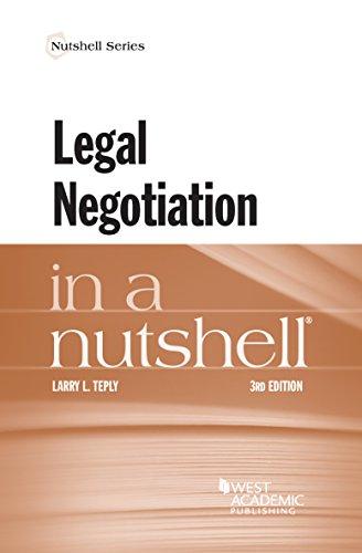 9781634597623: Legal Negotiation in a Nutshell (Nutshells)