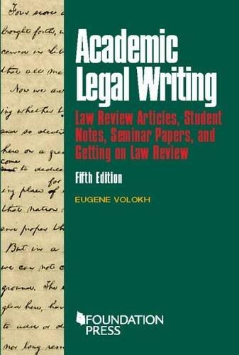Volokh academic legal writing