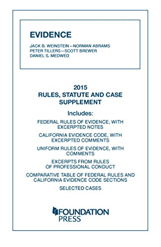 9781634599412: Evidence, 2015 Rules, Statute, and Case Supplement (University Casebook Series)