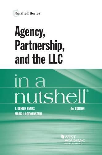 9781634600156: Agency, Partnership, and the LLC in a Nutshell (Nutshells)
