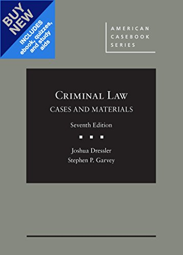 Cases and Materials on Criminal Law: CasebookPlus (Mixed media product): Joshua Dressler, Stephen ...