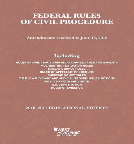 Federal Rules of Civil Procedure (Selected Statutes): Spencer, A.