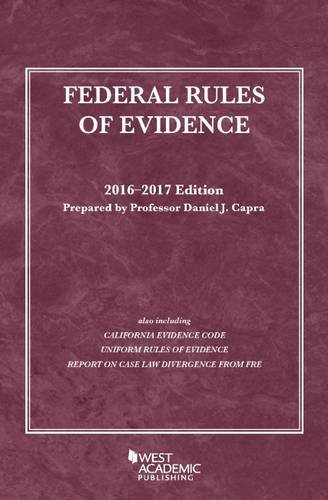 9781634607476: Federal Rules of Evidence (Selected Statutes)
